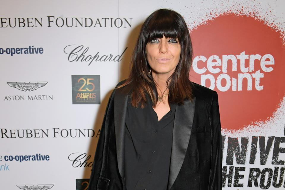 LONDON, ENGLAND - NOVEMBER 13:   Claudia Winkleman joins Patron of Centrepoint, HRH The Duke of Cambridge, young people supported by Centrepoint, and the charity's staff, ambassadors and supporters to mark the charity's 50 years of tackling youth homelessness, at The Roundhouse on November 13, 2019 in London, England. Duran Duran, Rita Ora and Hussain Manawer all performed at the gala.  (Photo by David M. Benett/Dave Benett/Getty Images for Centrepoint)