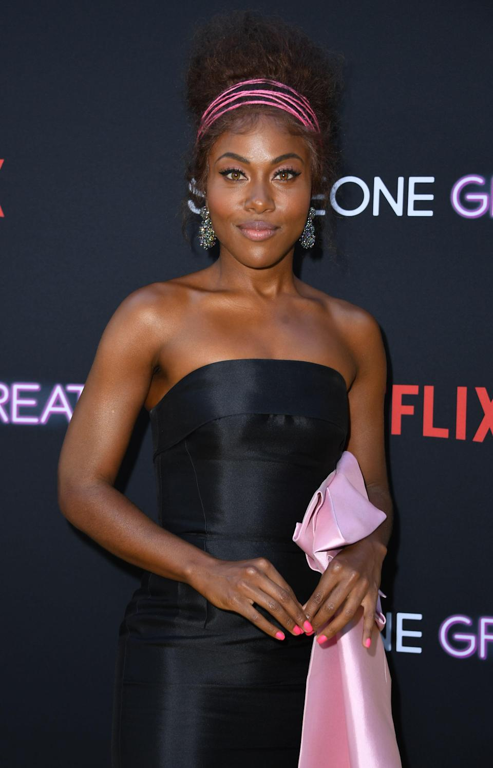 """<p>There's a level of internalized self-hate that some Black women have experienced with their hair. Whether it was having their hair labeled """"bad"""" growing up or not feeling beautiful compared to society's ideal of beauty. DeWanda Wise, who plays Nola in Netflix's <em>She's Gotta Have It</em>, explains the pain that's felt when a stylist reinforces the toxic belief that Black hair is less than.</p> <p>It's not just someone """"not being able to do your hair,"""" <a href=""""https://apnews.com/298c0720f9594d05aeffae26802c7ac6"""" rel=""""nofollow noopener"""" target=""""_blank"""" data-ylk=""""slk:she said"""" class=""""link rapid-noclick-resp"""">she said</a>. """"It's people touching this texture with a certain level of trepidation and disgust.""""</p>"""