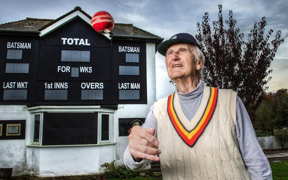 England cricketer Ted Dexter pictured at Wolverhamptopn cricket ground - Paul Cooper