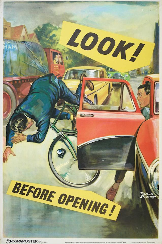 Cycling safety was a big issue then as is now (SWNS)