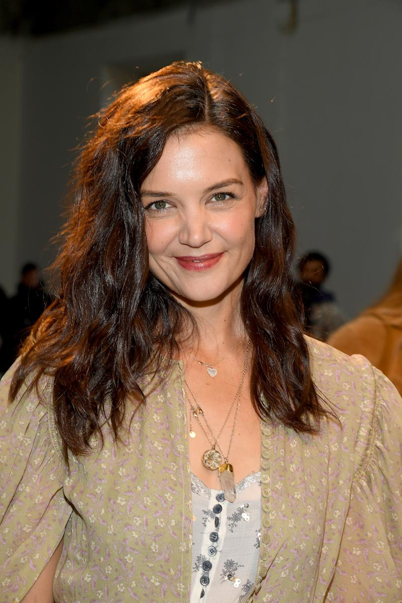PARIS, FRANCE - FEBRUARY 27: (EDITORIAL USE ONLY) Katie Holmes attends the Chloe show as part of the Paris Fashion Week Womenswear Fall/Winter 2020/2021 on February 27, 2020 in Paris, France. (Photo by Pascal Le Segretain/Getty Images)