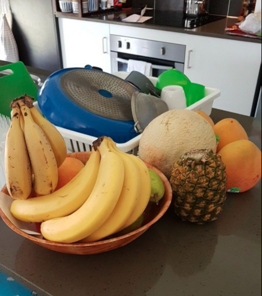 It all started online with the owner of this fruit bowl asking how she can stop her fruit from spilling out. Photo: Facebook/Kmart Mums Australia