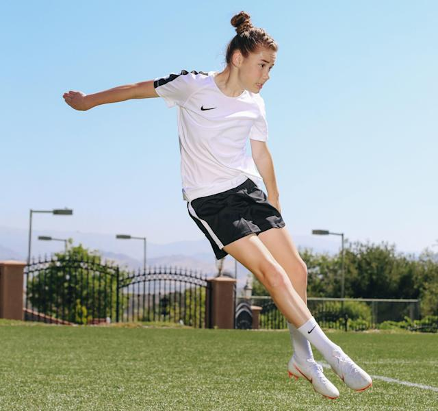 Olivia Moultrie, 13, turned pro as Nike's newest soccer endorser, and her story will be interesting to follow. (Nike/AP)
