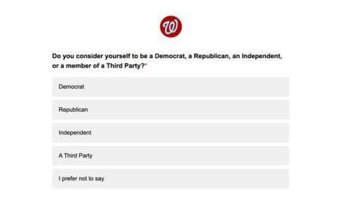 Major League Baseball is asking fans for their political affiliation in post-game surveys.
