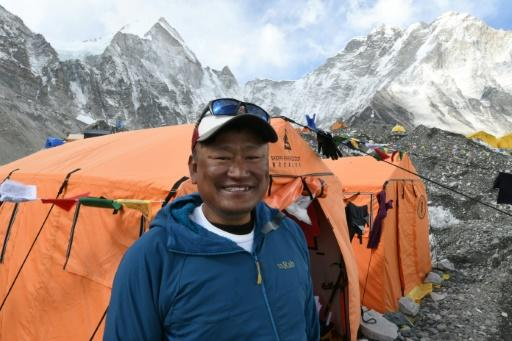 Sherpa Ang Tshering Lama -- one of Everest's dying breed of experienced guides -- at the mountain's base camp