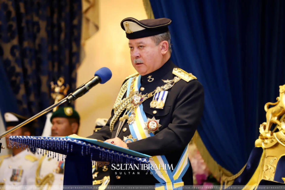 The 63-year-old state monarch said the review was supposed to make things better, but the new criteria is only going to drive investors and tourists away from Malaysia. — Picture from Facebook/ Sultan Ibrahim Sultan Iskandar
