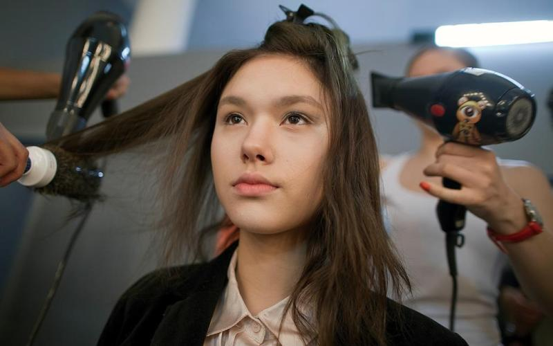 Skip the blow dry or wash your hair in advance to save on salon costs