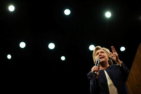 U.S. Democratic presidential nominee Hillary Clinton speaks at a fundraiser in San Francisco