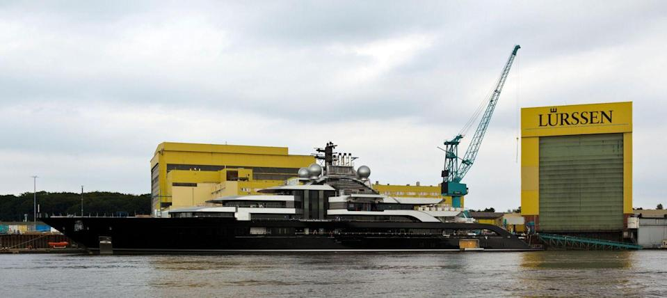 <p>One of the newest ships on this list, <em>Crescent</em> was built by Lurssen in 2018 and is just less than 445 feet long. This sleek ship's exteriors were designed by French yacht design firm Zuretti and its interiors by Monaco's Espen Oenio. It can house up to 18 guests and 24 crew and features a two-level glass atrium, a helicopter hangar, and a glass-bottomed pool. </p>