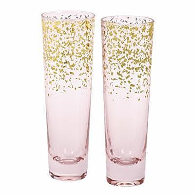 C.R. Gibson Champagne Flutes (Credit: Amazon)