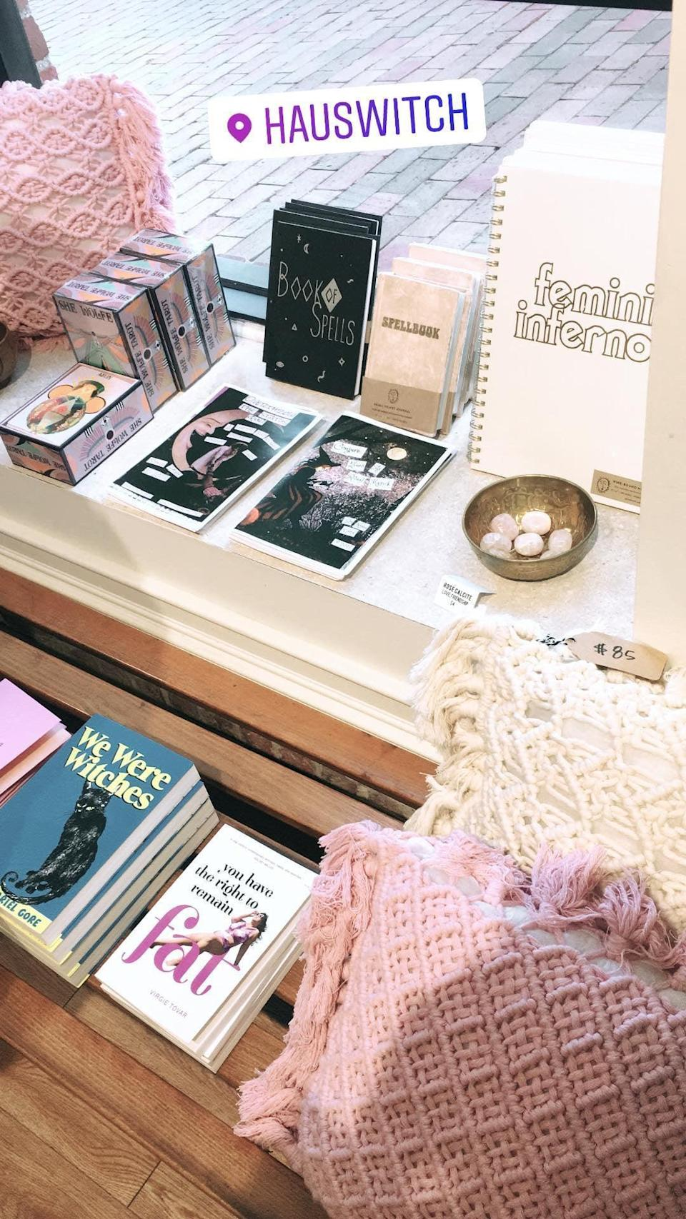 """<p>From fun and modern witch shops like <a href=""""http://hauswitchstore.com/"""" class=""""link rapid-noclick-resp"""" rel=""""nofollow noopener"""" target=""""_blank"""" data-ylk=""""slk:Hauswitch Home + Healing"""">Hauswitch Home + Healing</a> to age-old witch stores like <a href=""""http://www.crowhavencorner.com/"""" class=""""link rapid-noclick-resp"""" rel=""""nofollow noopener"""" target=""""_blank"""" data-ylk=""""slk:Crow Haven Corner"""">Crow Haven Corner</a> (a must-see) to <a href=""""http://thecovenscottage.com/"""" class=""""link rapid-noclick-resp"""" rel=""""nofollow noopener"""" target=""""_blank"""" data-ylk=""""slk:Coven's Cottage"""">Coven's Cottage</a> and more, Salem's downtown is filled with trinkets, potions, spells, and goodies that'll leave you with some memorable keepsakes. Hint: don't get distracted by all the stuff the vendors are selling (they're everywhere); the stores are where it's at! </p>"""