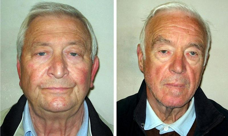 Terry Perkins, left, and Brian Reader were among those convicted of the £14m burglary of safe deposit facility in central London in 2015.