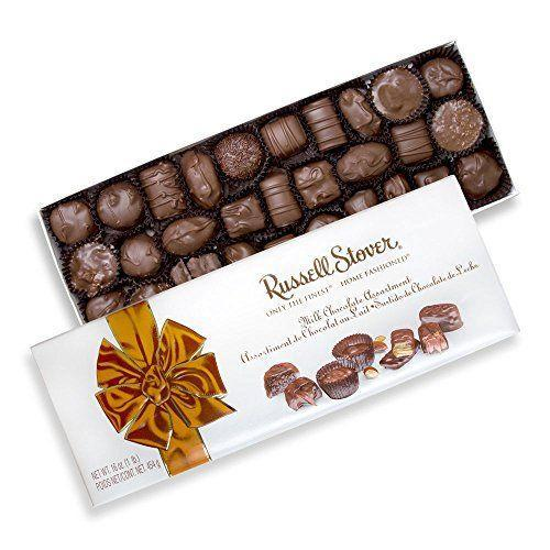 """<p><strong>Russell Stover</strong></p><p>amazon.com</p><p><strong>$27.99</strong></p><p><a href=""""https://www.amazon.com/dp/B01MUBHWKW?tag=syn-yahoo-20&ascsubtag=%5Bartid%7C10063.g.35014712%5Bsrc%7Cyahoo-us"""" rel=""""nofollow noopener"""" target=""""_blank"""" data-ylk=""""slk:Shop Now"""" class=""""link rapid-noclick-resp"""">Shop Now</a></p><p>Sometimes nothing will do but a taste of nostalgia, and considering that Russell Stover was an introduction to chocolate boxes for many of us, this is the perfect choice. </p>"""