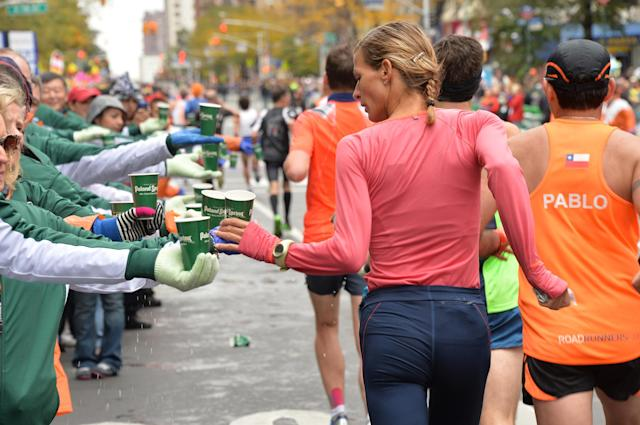 NEW YORK, NY - NOVEMBER 03: Poland Spring Supports The 2013 ING New York City Marathon on November 3, 2013 in New York City. (Photo by Theo Wargo/Getty Images)