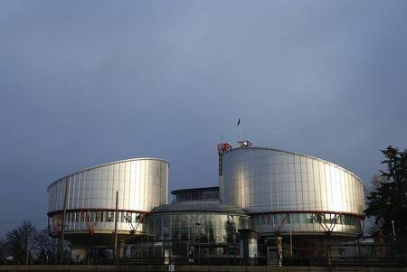 The building of the European Court of Human Rights is seen in Strasbourg during an hearing concerning the case of Vincent Lambert