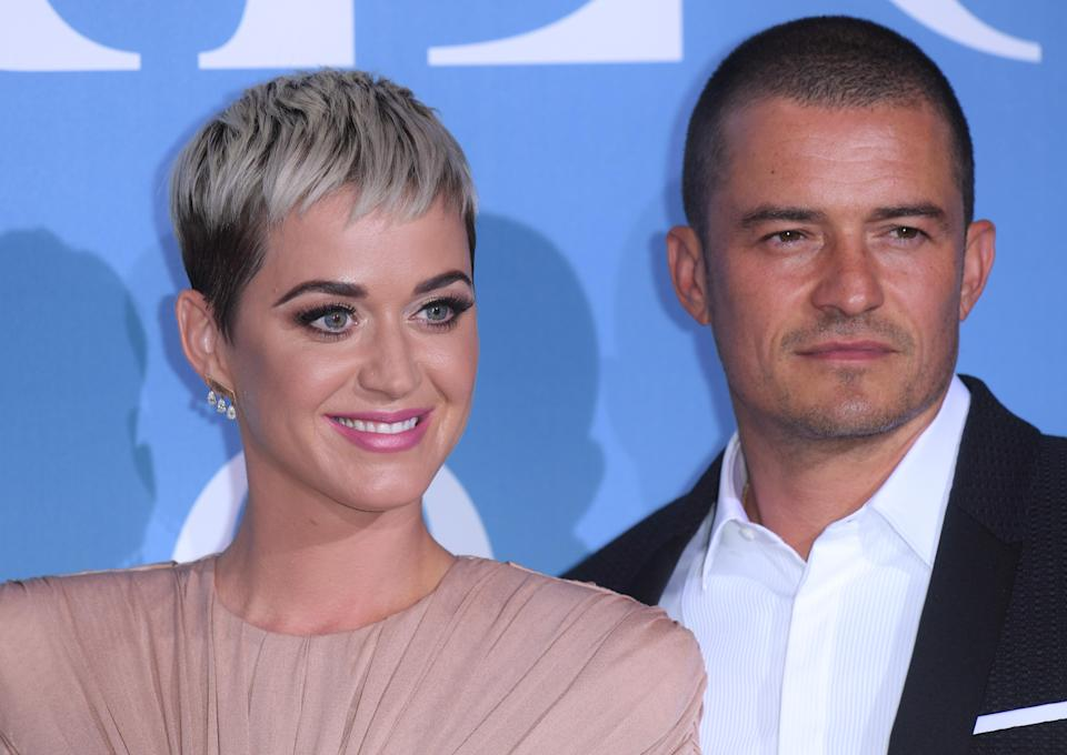 Katy Perry and Orlando Bloom made their red carpet debut at the Monte Carlo Gala for the Global Ocean. [Photo: Rex]