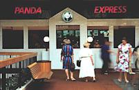 <p>Another restaurant that became famous as a food-court staple, Panda Express opened in the Glendale Galleria in October 1983, though the parent company operated a Panda Inn restaurant in the 1970s in Pasadena, CA. </p>
