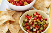 """<p>This homemade<a href=""""https://www.thedailymeal.com/easy-summer-salsa-and-dip-gallery?referrer=yahoo&category=beauty_food&include_utm=1&utm_medium=referral&utm_source=yahoo&utm_campaign=feed"""" rel=""""nofollow noopener"""" target=""""_blank"""" data-ylk=""""slk:salsa is perfect for summer"""" class=""""link rapid-noclick-resp""""> salsa is perfect for summer</a>. Eat this salsa with tortilla chips, mix it in with a salad or put it on top of grilled chicken.</p> <p><a href=""""https://www.thedailymeal.com/best-recipes/strawberry-salsa-recipe?referrer=yahoo&category=beauty_food&include_utm=1&utm_medium=referral&utm_source=yahoo&utm_campaign=feed"""" rel=""""nofollow noopener"""" target=""""_blank"""" data-ylk=""""slk:For the Cool Strawberry Salsa recipe, click here."""" class=""""link rapid-noclick-resp"""">For the Cool Strawberry Salsa recipe, click here.</a></p>"""