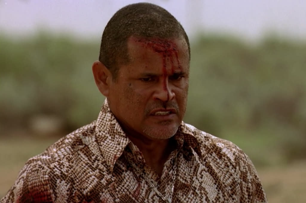 "<b>8. Tuco</b> (Season 2, ""Grilled"") <br><br>Cause of Death: Multiple gunshots <br><br>The series' first super-villain, low-level meth distributor Tuco Salamanca was a short-fused, drug-snorting force of nature. Walt earned Tuco's respect with his flawless product, but that only led to Tuco kidnapping him and Jesse and taking them down to Mexico to cook meth for him. Their plot to poison Tuco was thwarted by Tuco's invalid bell-tapping uncle, and the ensuing struggle ended with Jesse shooting Tuco in the gut. Then Hank rode in and finished the job after a fierce firefight. We have to admit, we were a little sad to see the entertaining Tuco bite the dust -- but then again, we hadn't met Gus Fring yet."