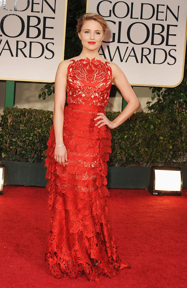 Dianna Agron arrives at the 69th Annual Golden Globe Awards in Beverly Hills, California, on January 15.
