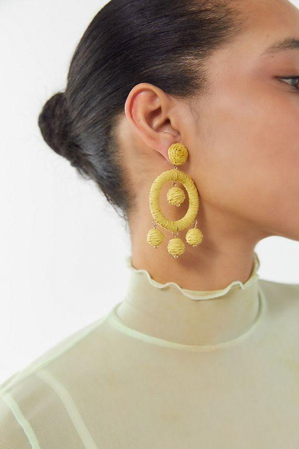 Rachel Raffia Statement Earring