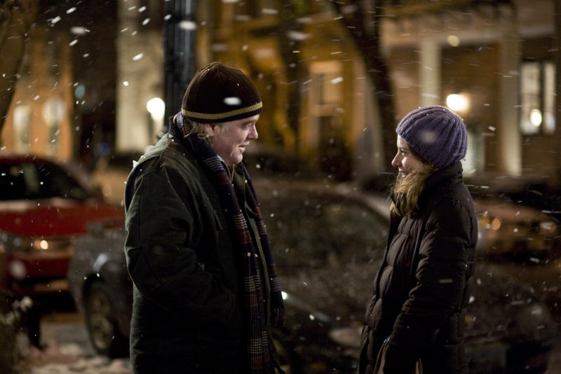 """File-In this film publicity image released by Overture Films, Phillip Seymour Hoffman, left, and Amy Ryan are shown in a scene from, """"Jack Goes Boating."""" In a medium (movies) that prizes glamor and flash, he offered the opposite: untidy, imperfect, shy, awkward and eminently real people. Despite his outsized talent, he was relentlessly humble. Bennett Miller, his longtime friend and """"Capote"""" director, once called him """"a shaman-like actor."""" (AP Photo/Overture Films, K.C. Bailey, File)"""
