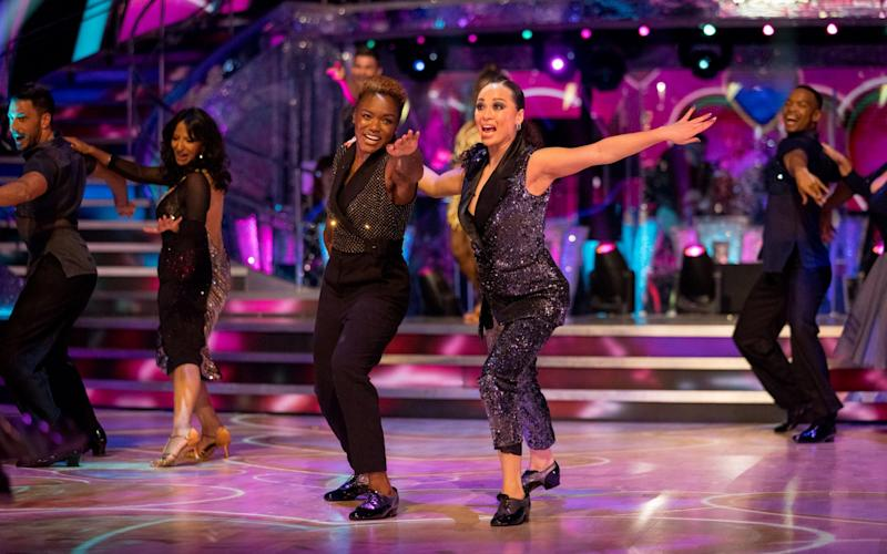 Nicola Adams and Katya Jones have made history as the first same-sex pairing on Strictly - BBC