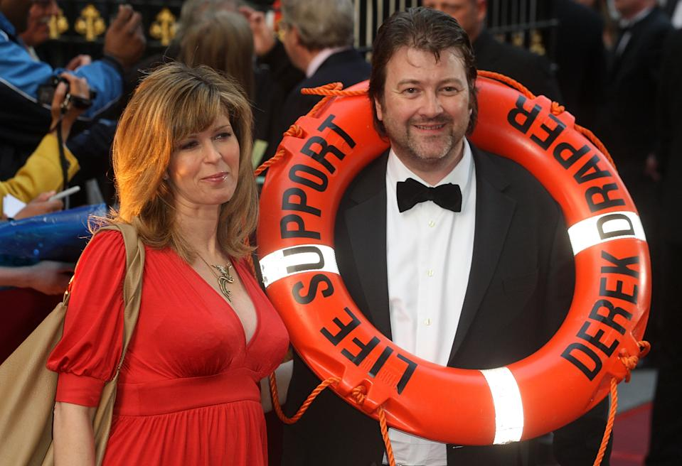 LONDON - APRIL 03:  Kate Garraway and Derek Draper attend the Galaxy British Book Awards at Grosvenor House Hotel on April 3, 2009 in London, United Kingdom.  (Photo by Danny Martindale/Getty Images)
