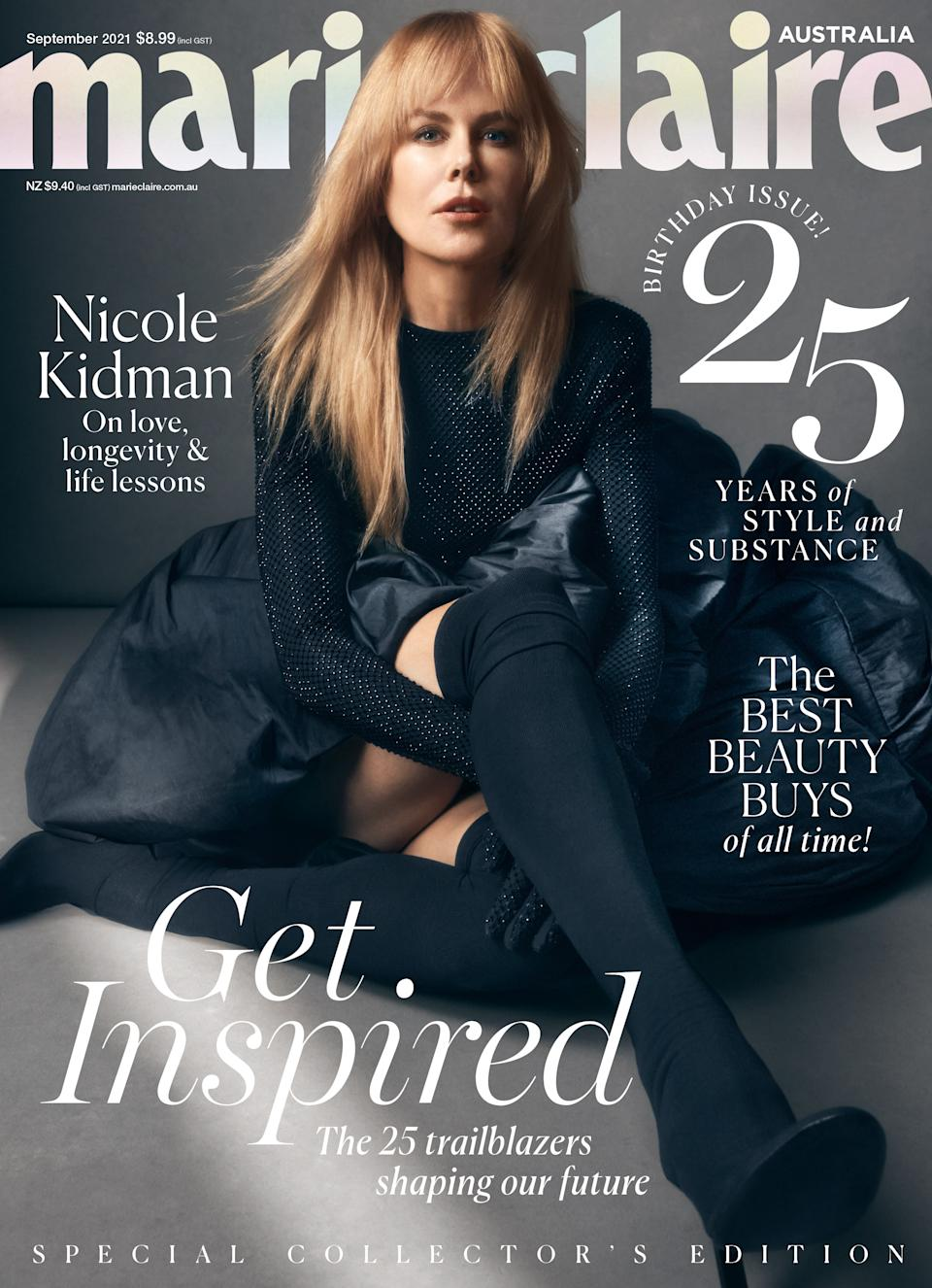 Nicole Kidman on the cover of Marie Claire Australia