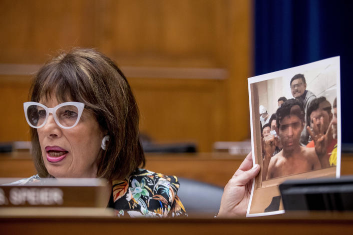 Rep. Jackie Speier questioning acting Secretary of Homeland Security Kevin McAleenan. (Photo: Andrew Harnik/AP)