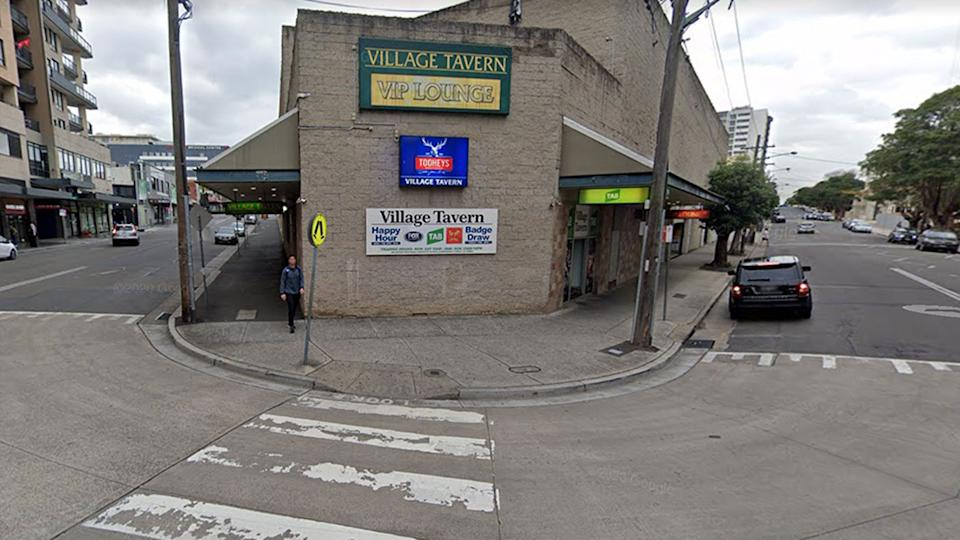 Auburn's Village Tavern is among the venues listed by NSW Health. Source: Google Maps