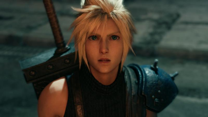Cloud sees and old nemesis in Final Fantasy VII Remake.