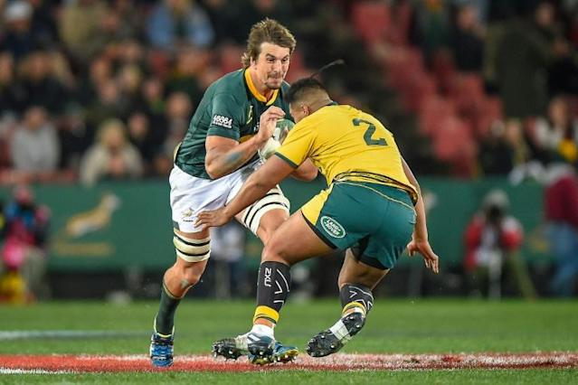 Eben Etzebeth is a towering presence for South Africa (AFP Photo/Christiaan Kotze)