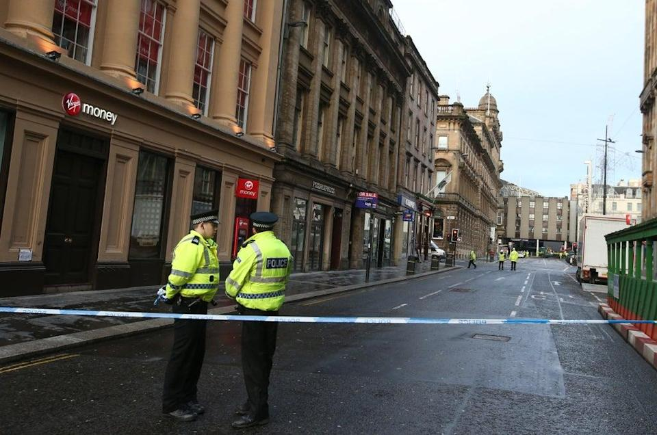The lorry careered up Queen Street in Glasgow hitting Christmas shoppers (Andrew Milligan/PA) (PA Archive)