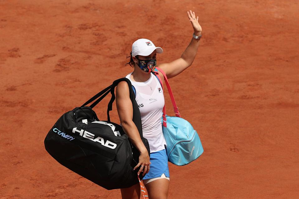 <p>Ashleigh Barty retired from the 2021 French Open through injury</p> (Getty Images)