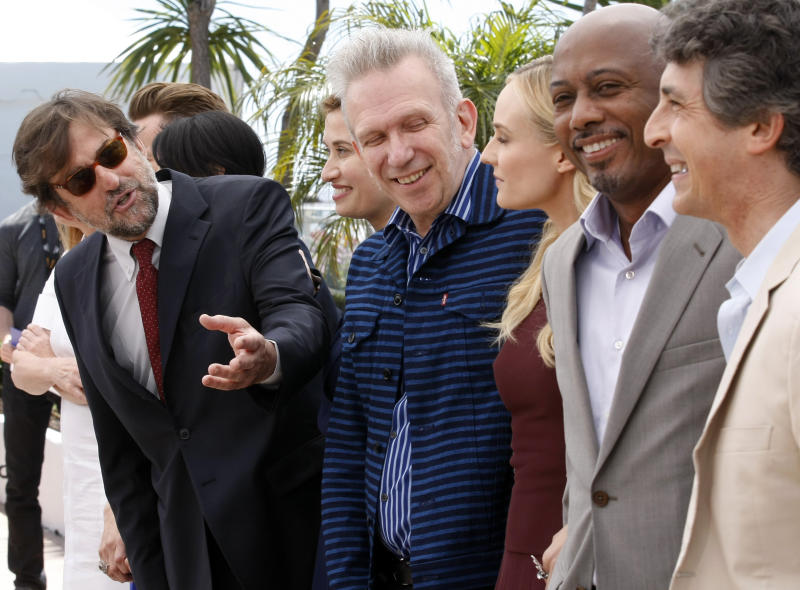 From left, members of the jury Nanni Moretti, Emmanuelle Devos, Jean-Paul Gaultier, Diane Kruger, Raoul Peck and Alexander Payne pose during a photo call for the members of the jury at the 65th international film festival, in Cannes, southern France, Wednesday, May 16, 2012. (AP Photo/Lionel Cironneau)