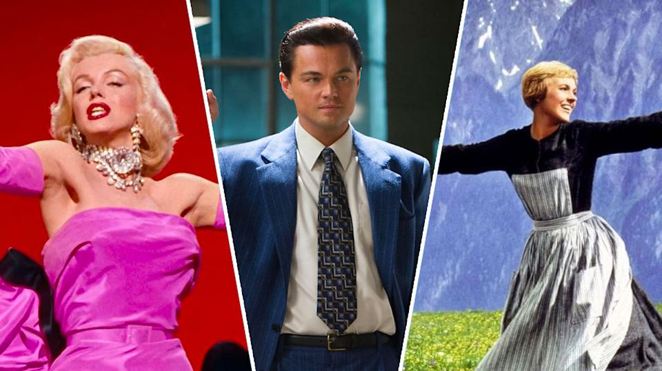 Gentlemen Prefer Blondes, The Wolf of Wall Street, The Sound of Music.