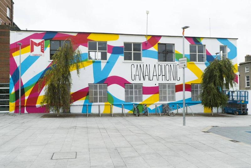 Not all war: SUBSET have actually been commissioned by Dublin City Council, including this mural for Canalaphonic festival (SUBSET)