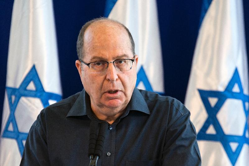 Israeli Defence Minister Moshe Yaalon, pictured in May announcing his resignation from the government (AFP Photo/Jack Guez)