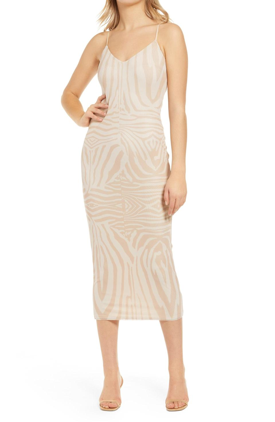 <p>This <span>AFRM Amina Sleeveless Midi Dress</span> ($78) features a vibrant print and a summery silhouette for the perfect day-to-night look.</p>