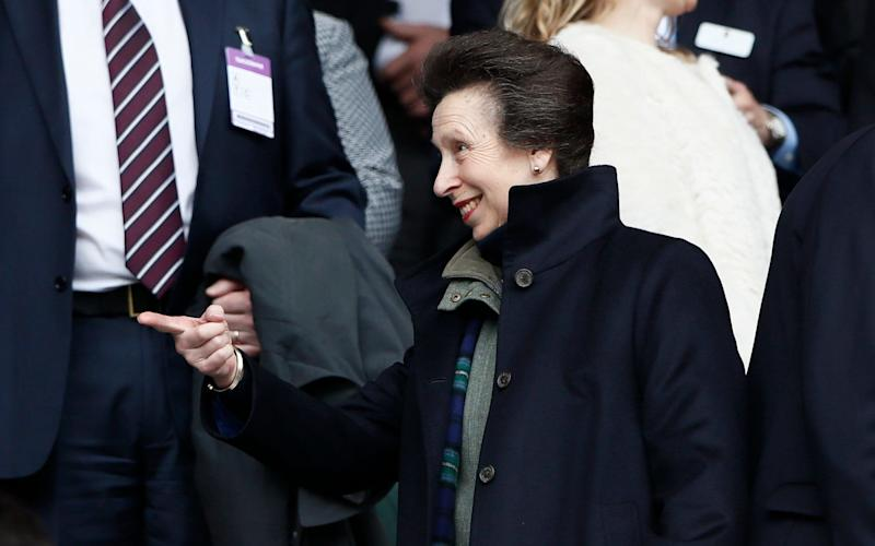 Princess Anne was at the England v Scotland game today - Credit: Stefan Wermuth/Reuters
