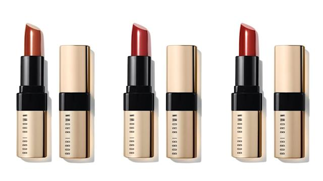 ▲Bobbi Brown 金緻奢華唇膏 #Afternoon Tea # New York Sunset # Soho Sizzle 3.8g NT$1,200。(圖/Bobbi Brown)