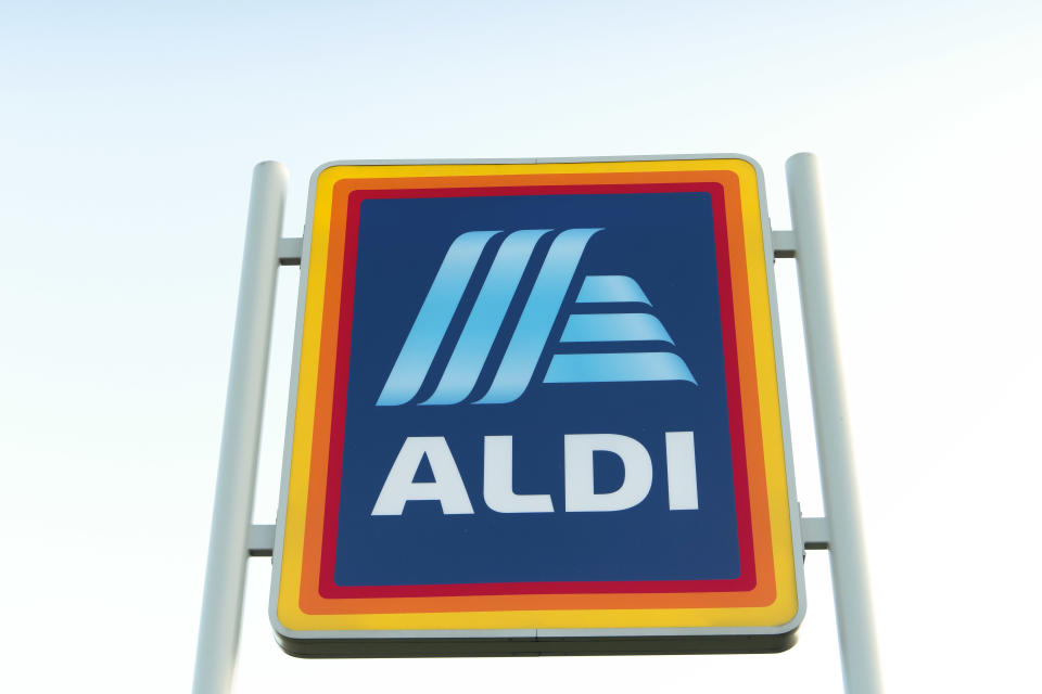 Image of Aldi sign as alcoholic Advent calendars released
