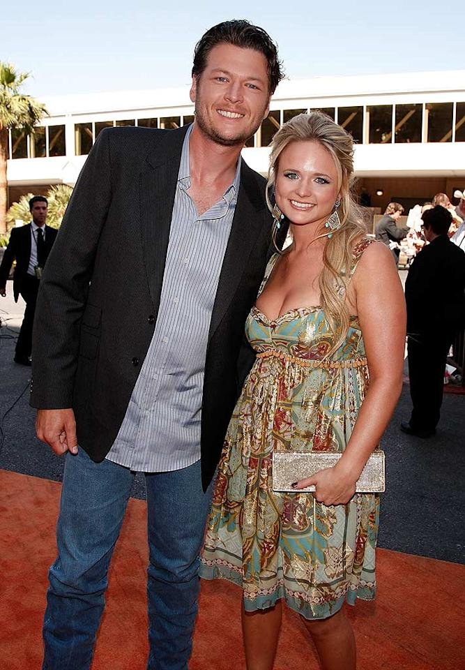 """Blake Shelton and his country cutie Miranda Lambert proved that solo stars can make quite the dynamic duo. Kevin Winter/ACMA/<a href=""""http://www.gettyimages.com/"""" target=""""new"""">GettyImages.com</a> - May 18, 2008"""