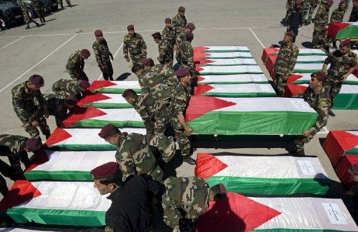 Israel began the transfer of 91 Palestinian bodies at dawn today