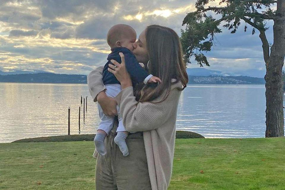 Katharine McPhee Shares First Photos of Sons Face as