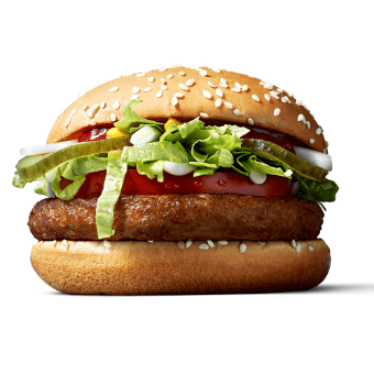 The McVegan in a promotional image from the McDonald's Finland website. (McDonalds Finland)