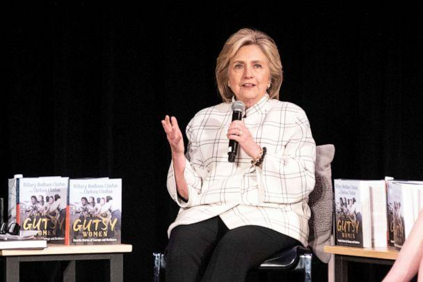 PHOTO: Former Secretary of State Hillary Clinton attends a discussion on their book 'The Book of Gutsy Women' at the Ebell Theater in Los Angeles, Nov. 5, 2019. (Etienne Laurent/EPA via Shutterstock)