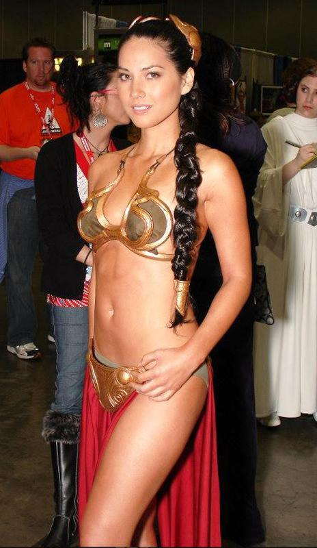 "<p>Munn sported a sexy Princess Leia look while working on G4. She probably would've worn the costume anyway, though, since she's such a fan. Munn's offered to work on any part of the newest <em>Star Wars</em> films — <a href=""http://www.vanityfair.com/hollywood/2013/02/olivia-munn-interview-star-wars-aaron-sorkin-the-newsroom"" rel=""nofollow noopener"" target=""_blank"" data-ylk=""slk:even craft services"" class=""link rapid-noclick-resp"">even craft services</a>! (Photo: Twitter) </p>"