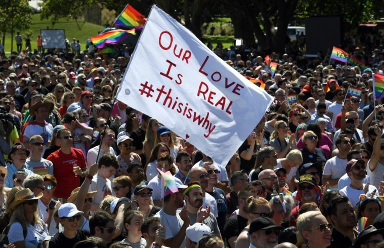"""Supporters of the same-sex marriage """"Yes"""" vote have taken to the streets to celebrate"""